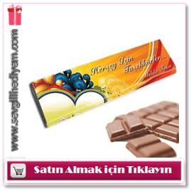 Kişiye Özel Çikolata Dev Teşekkür Çikolatası