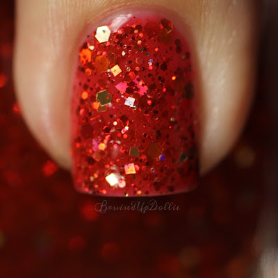 polish 'm, ember glow, indie polish, manicure, indie, short nails