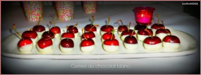 image Cerises enrobées de chocolat blanc