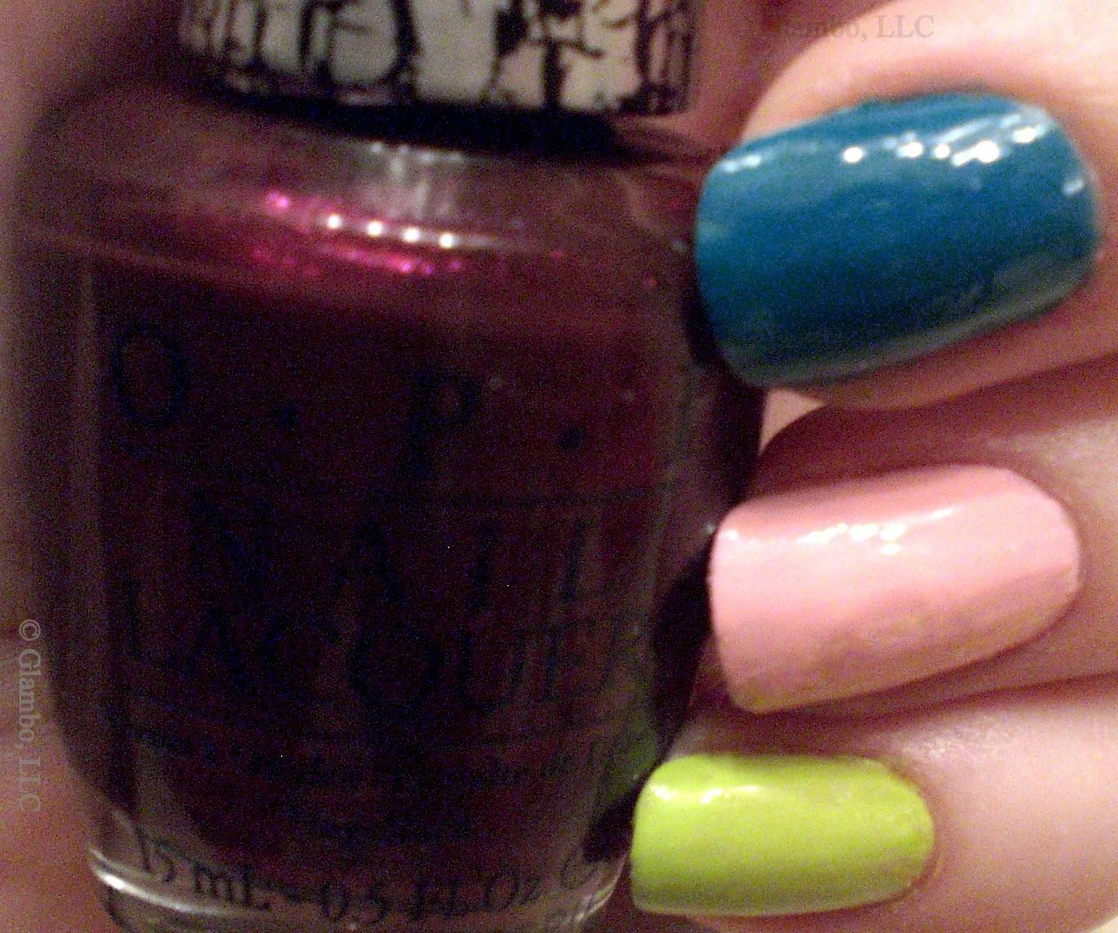 GLAMBO: OPI Nicki Minaj Super Bass Shatter & Colors