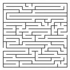 Bright image with printable mazes for adults