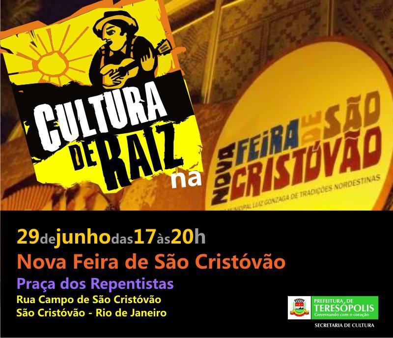 Projeto Cultura de Raiz de Teresópolis na Feira de São Cristóvão neste sábado