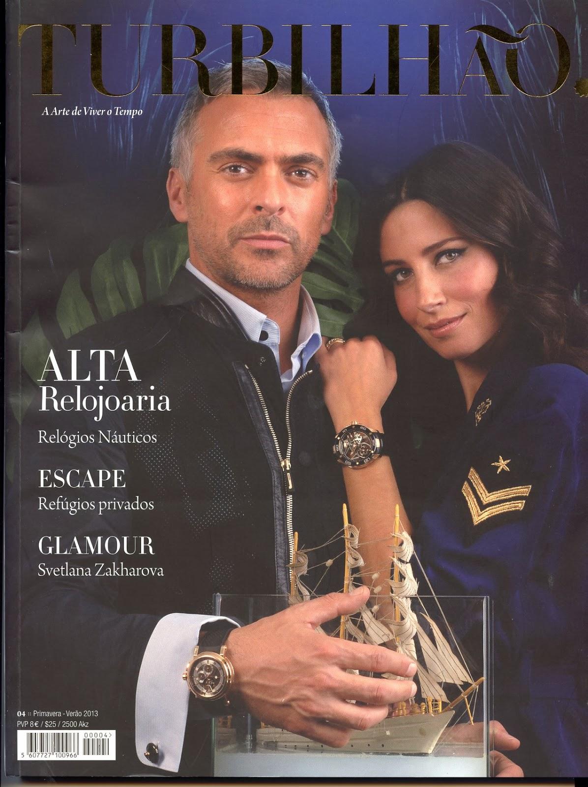 d200df59ec6 Só agora nos chegou às mãos o número Primavera   Verão da revista Turbilhão.  Estação Cronográfica colabora