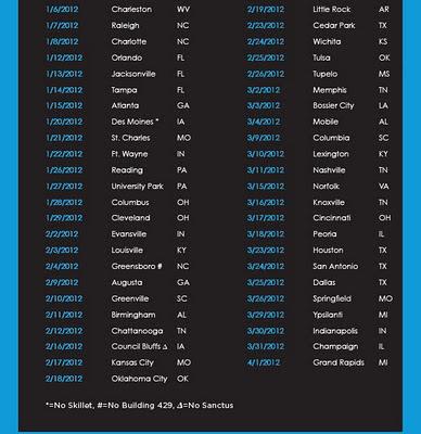 Winter Jam 2012 Tour Dates