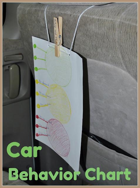 car child behavior chart