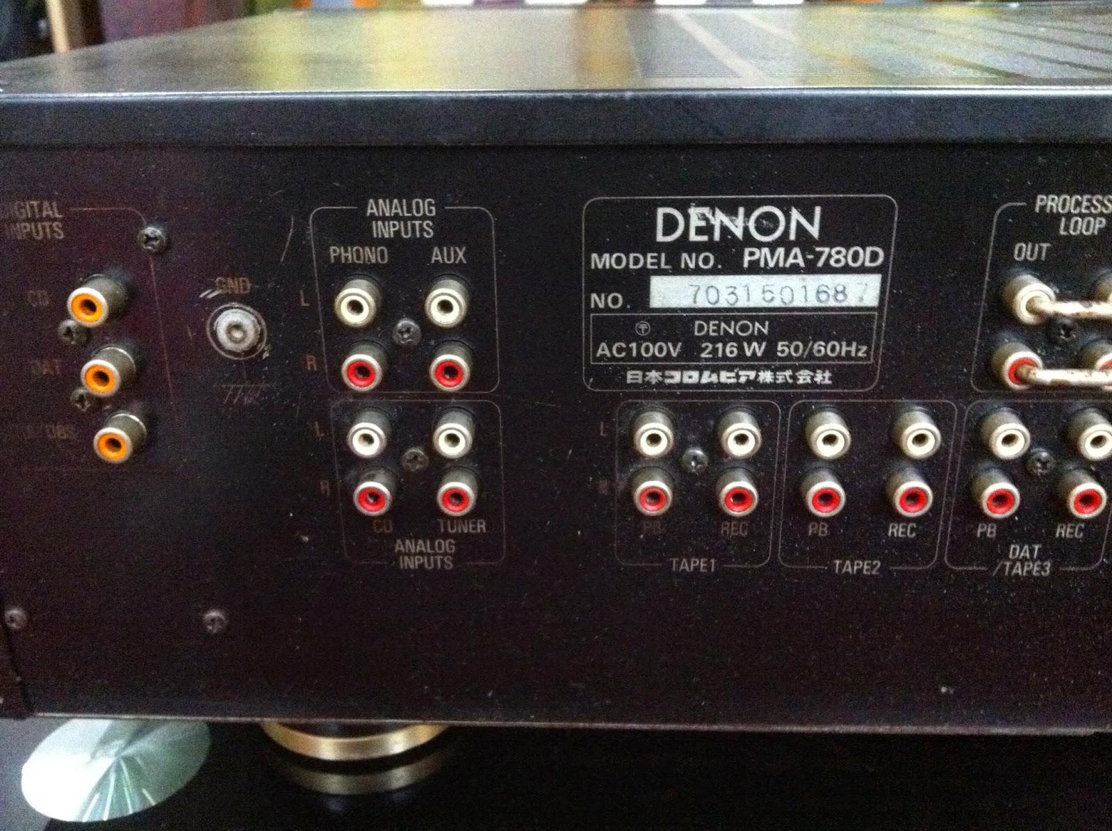Cận cảnh mặt sau amply Denon 780D