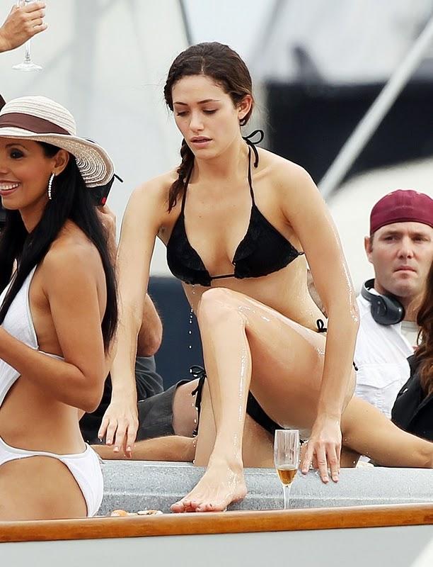 Emmy Rossum Bikini Candids in San Pedro