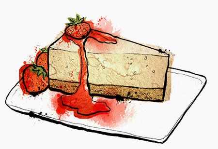 cake, food illustration, cheesecake, mother diaries, parenting blog, funny parenting blog, breastfeeding, formula feeding, you deserve cake.