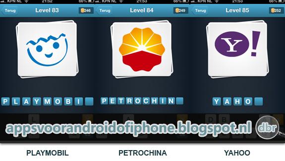 Logo Quiz Nederland cheat antwoord level 83 84 en 85
