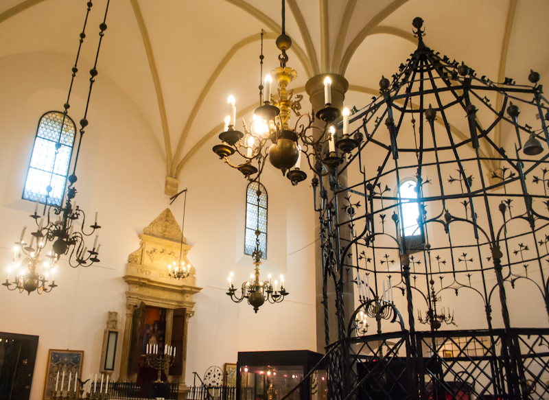 Decorations of the old synagogue in Kraków, Poland