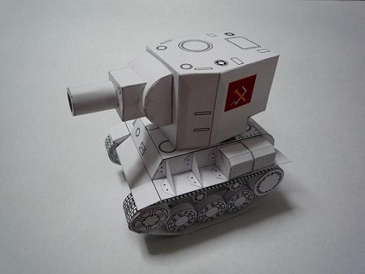Как сделать танк кв-2 из бумаги своими руками