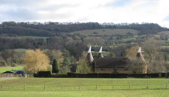 Filston Oast from the road.   Otford, 2 February 2013.