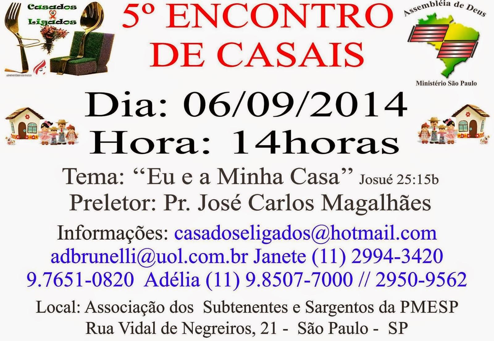 5º ENCONTRO DE CASAIS