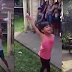 This little girl amazes her neighbors by doing this