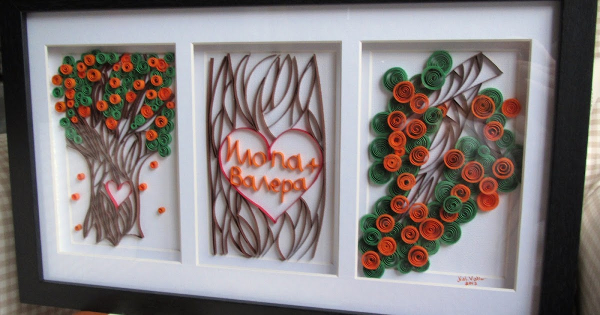 New Family Tree of Love;Quilled Wall Decoration;Framed Quilling;Wedding Present Handmade