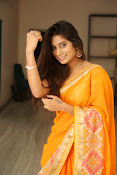 Midhuna New photo session in Saree-thumbnail-13
