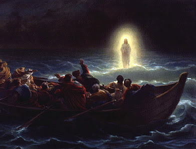 Jesus walking upon the water