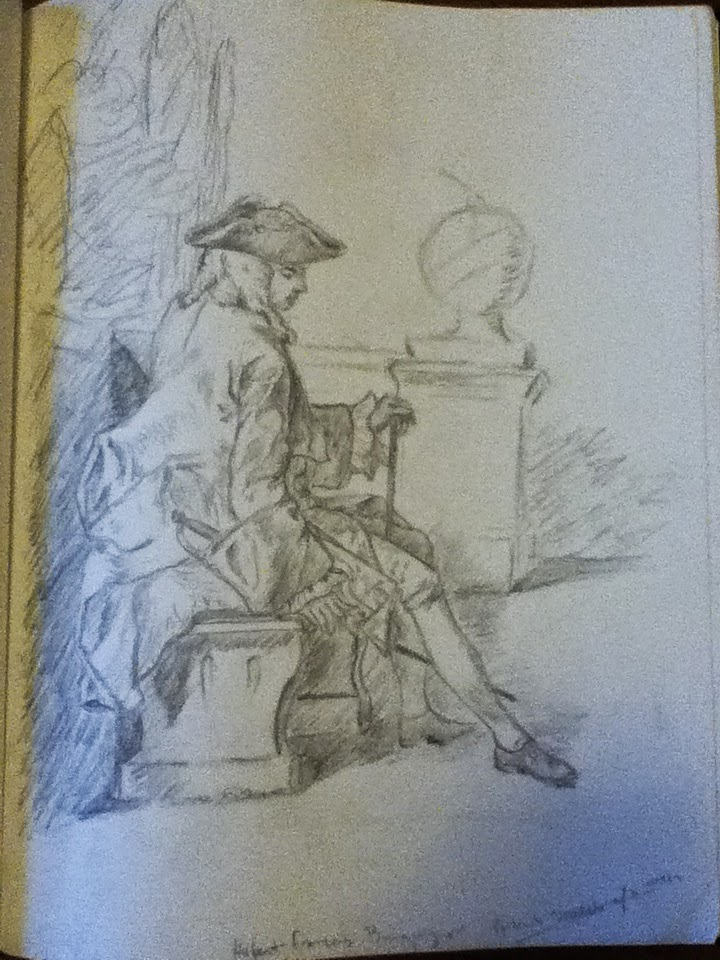 My copy of a drawing by Hubert-Francois Bouguignon.