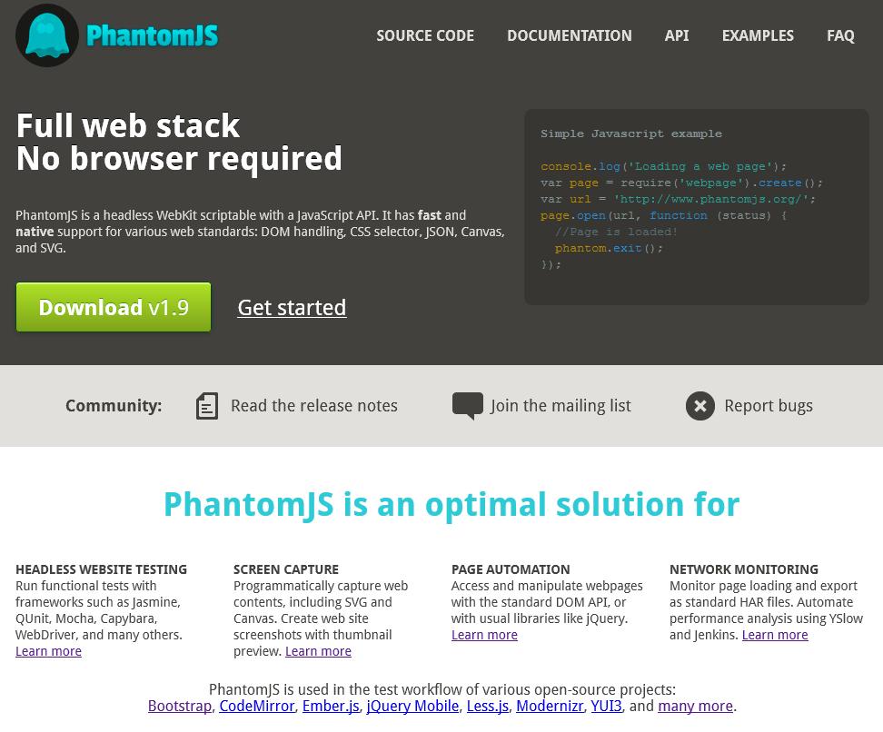 Situs PhantomJS