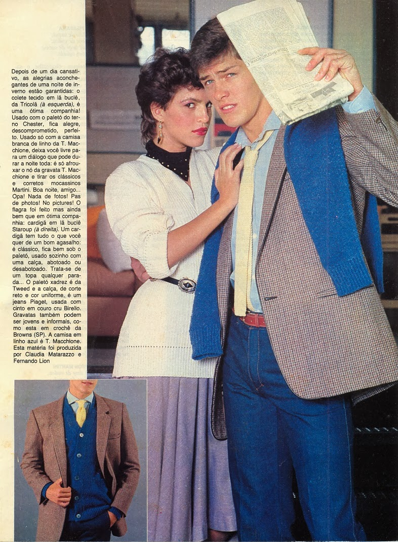 Revista Paly Boy - editorial moda para Fernando Pires - anos 80