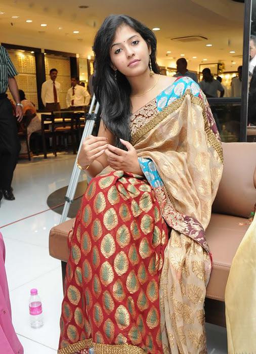 Anjali in Saree Cute Photos sexy stills