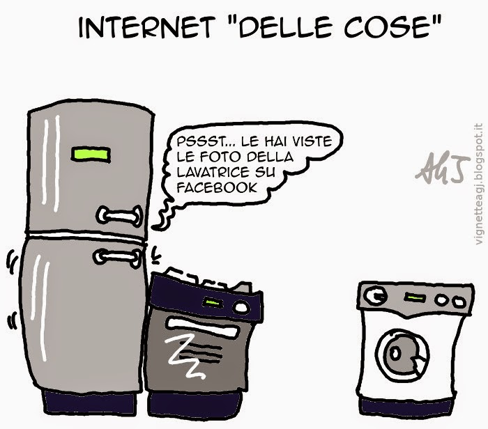 Internet, domotica, elettrodomestici, umorismo, vignetta