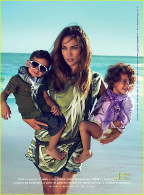 Jennifer Lopez With Her Twins