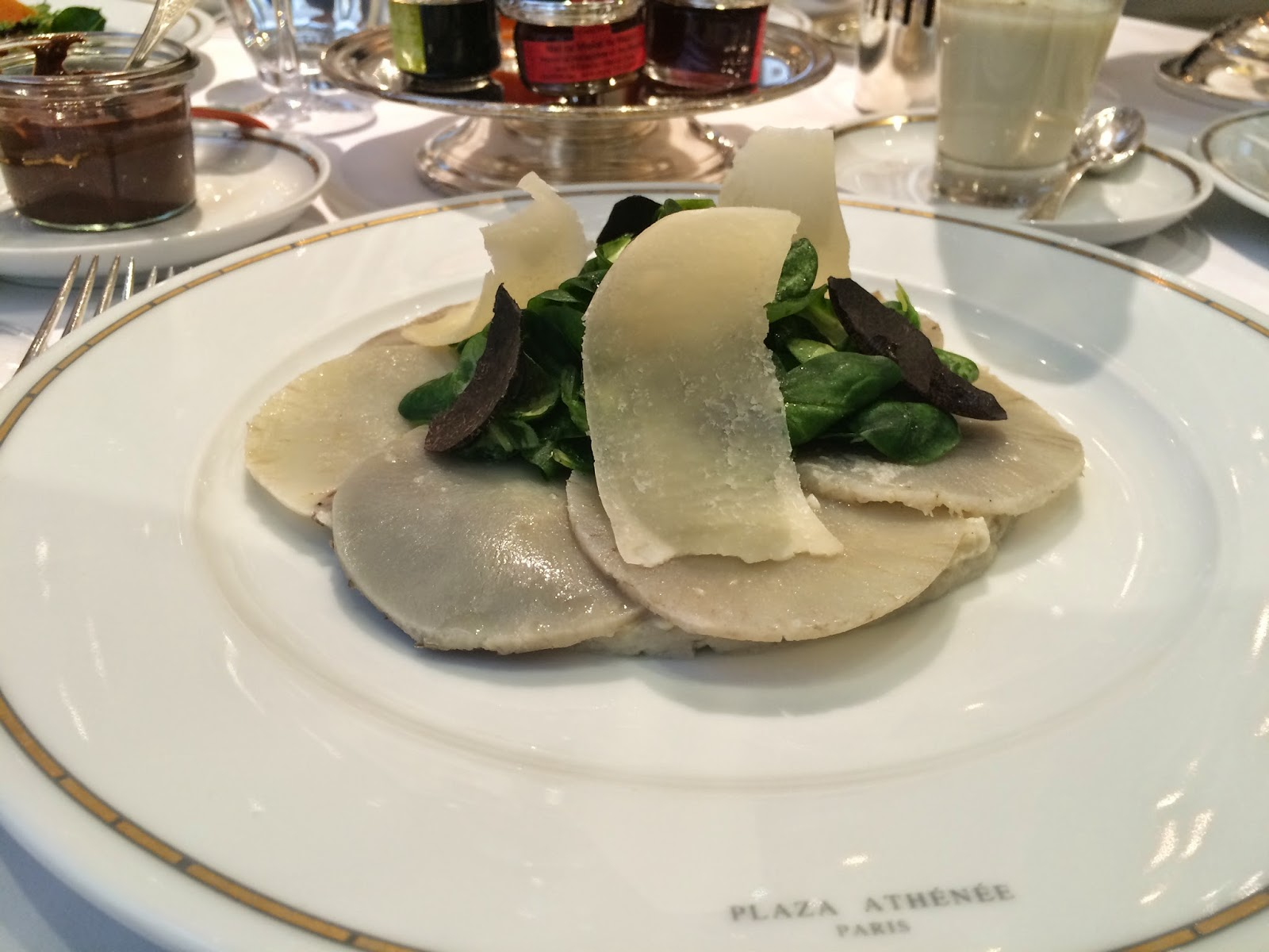 Brittany artichokes at the Haute Couture Brunch, Alain Ducasse au Plaza Athénée, Paris