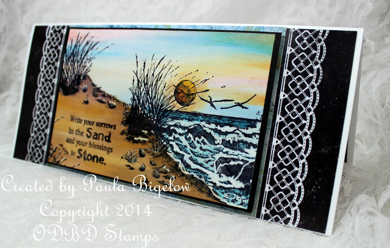 Stamps - Our Daily Bread Designs The Mighty Sea, Count the Waves, ODBD Chalkboard Paper Collection, ODBD Blooming Garden Paper Collection
