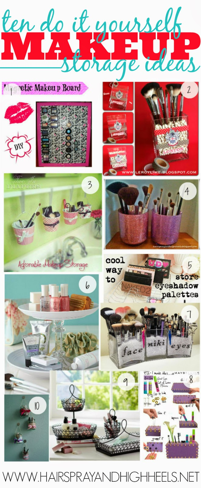 Ten DIY Makeup Storage Ideas