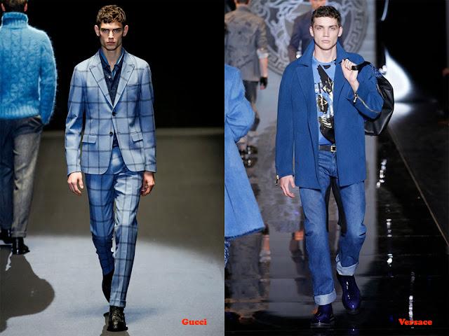 Tendencia otoño_invierno 2013-14 color azul: Gucci y Versace