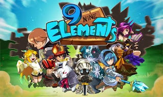 Screenshots of the 9 elements: Action fight ball for Android tablet, phone.