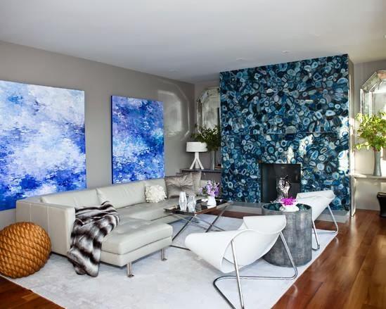 motif dan warna dinding ruang tamu