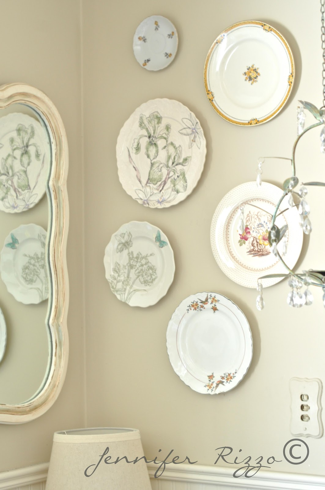 Vintage Wall Plates Springinspired Plate Wall And Other Spring Decorating Ideas