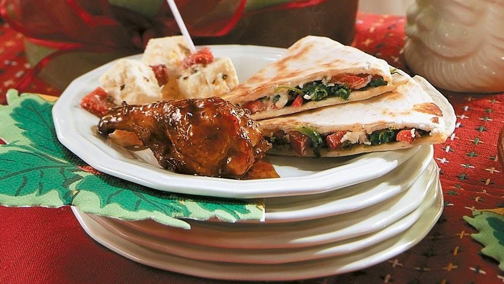 QUICK FIX RECIPES: SPINACH AND FETA QUESADILLAS