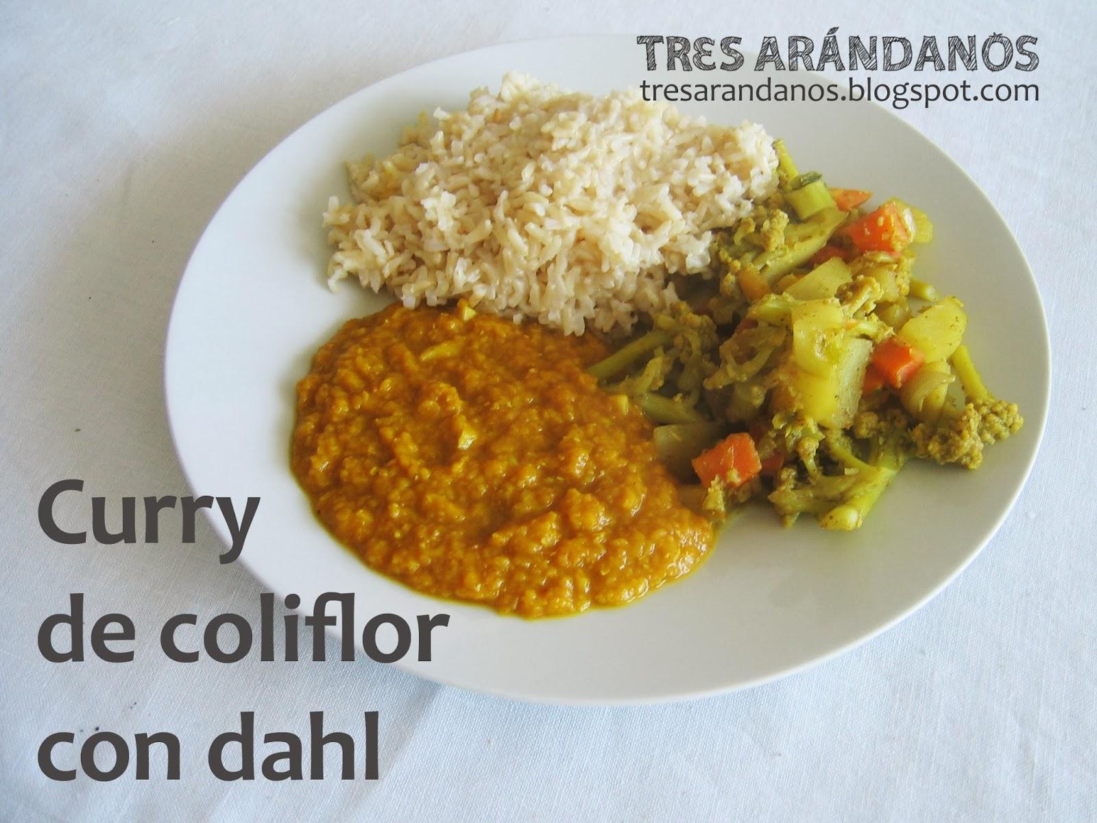 receta de curry con dahl y arroz basmati