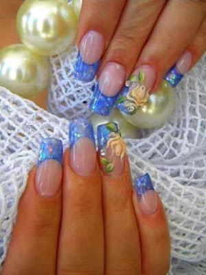 Decoraciones de uñas para niñas, faciles, lindas, con flores