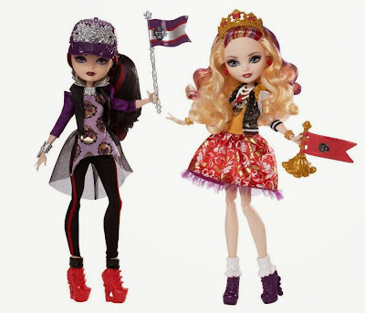 JUGUETES - Ever After High : School Spirit  Apple White & Raven Queen | Pack 2 Muñcas - Dolls  Toys | Producto Oficial 2015 | Mattel | A partir de 6 años