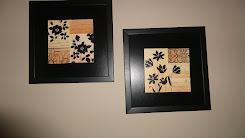 Duo quadros preto floral
