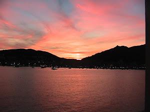 tramonto ad Ajaccio