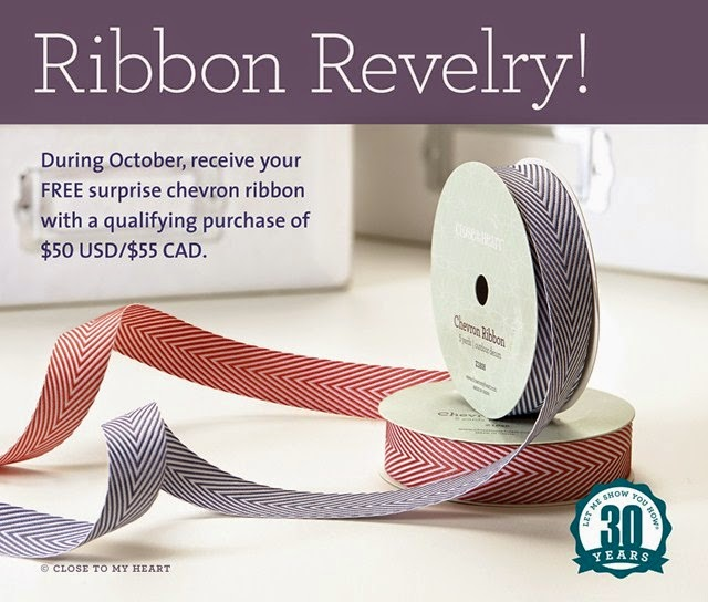 October CTMH Special - Chevron Ribbon sold out; substitution