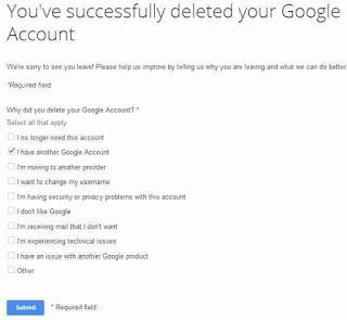 Cara Menghapus Akun Google Permanen