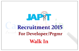 Jharkhand Agency for Promotion of Information Technology Recruitment 2015 for the posts of Software Developer and Programmer