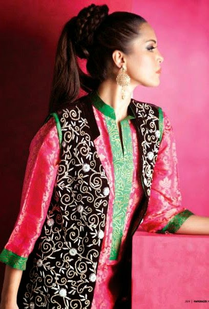 EmbroideredPartyWearDresses2014 wwwfashionhuntworldblogspotcom 03 - Embroidered Party Wear Collection 2014 By Sadaf Amir