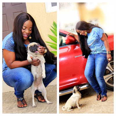 Nollywood actress Empress mourns death of her dog