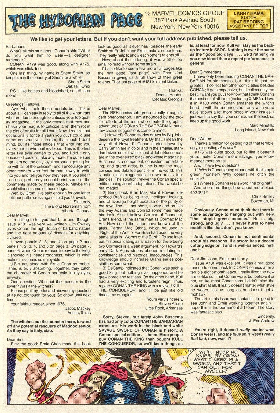 Conan the Barbarian (1970) Issue #186 #198 - English 25