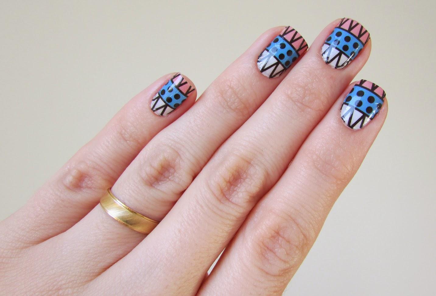 Unha nail art película estilo etnico Sindy Francesinhas