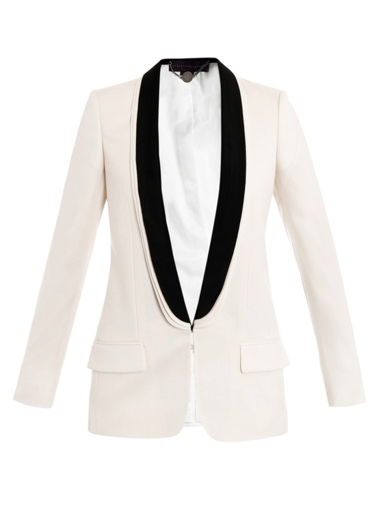 Stella McCartney Mathilda Tuxedo Jacket Black and White