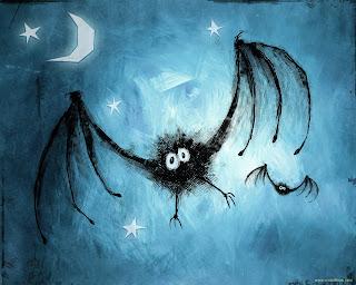 Bat Sketch Dark Gothic Wallpaper