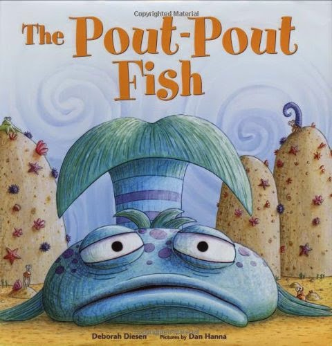 The Pout-Pout Fish by Deborah Diesen, included in a book review list of ocean books for preschoolers